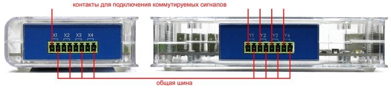Разъёмы коммутатора АКТАКОМ АЕЕ-2086