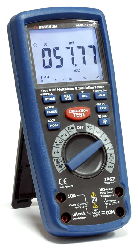 Новинка! TrueRMS мультиметр с функцией мегаомметра Актаком АММ-1179