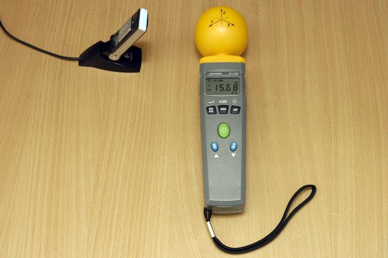 Измеритель уровня электромагнитного фона АТТ-2592 - Измерение напряженности электрического поля Yota WiMax