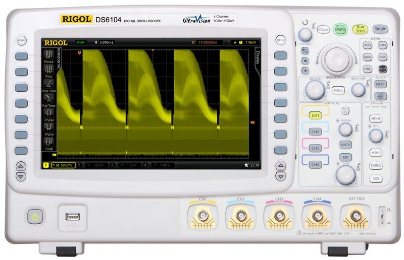 Цифровой осциллограф DS6104 - вид спереди