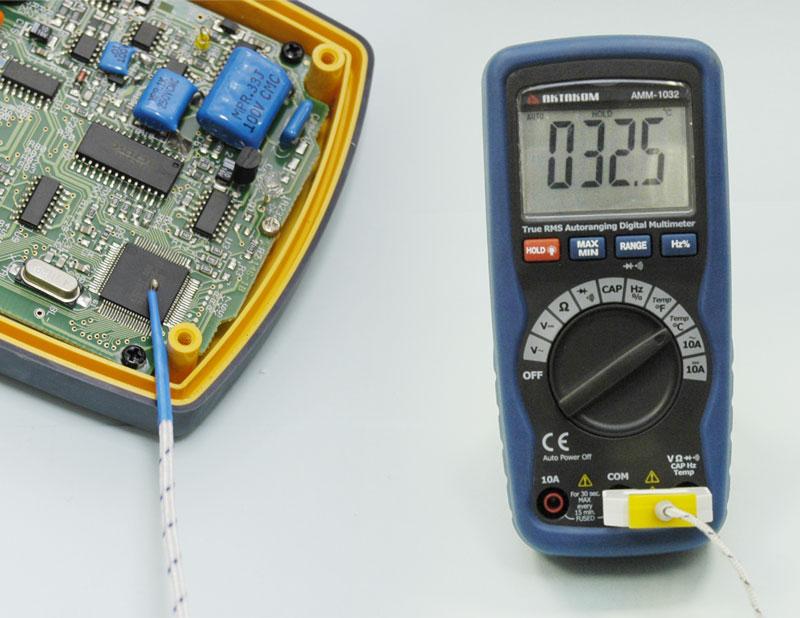 Мультиметр АММ-1032 - Измерение температуры.