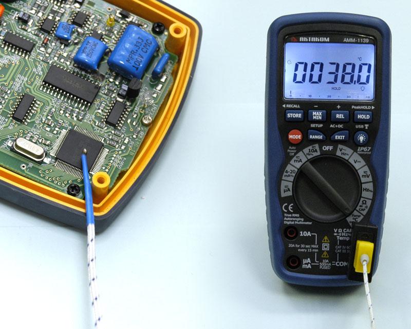 Мультиметр АММ-1139 - Измерение температуры.